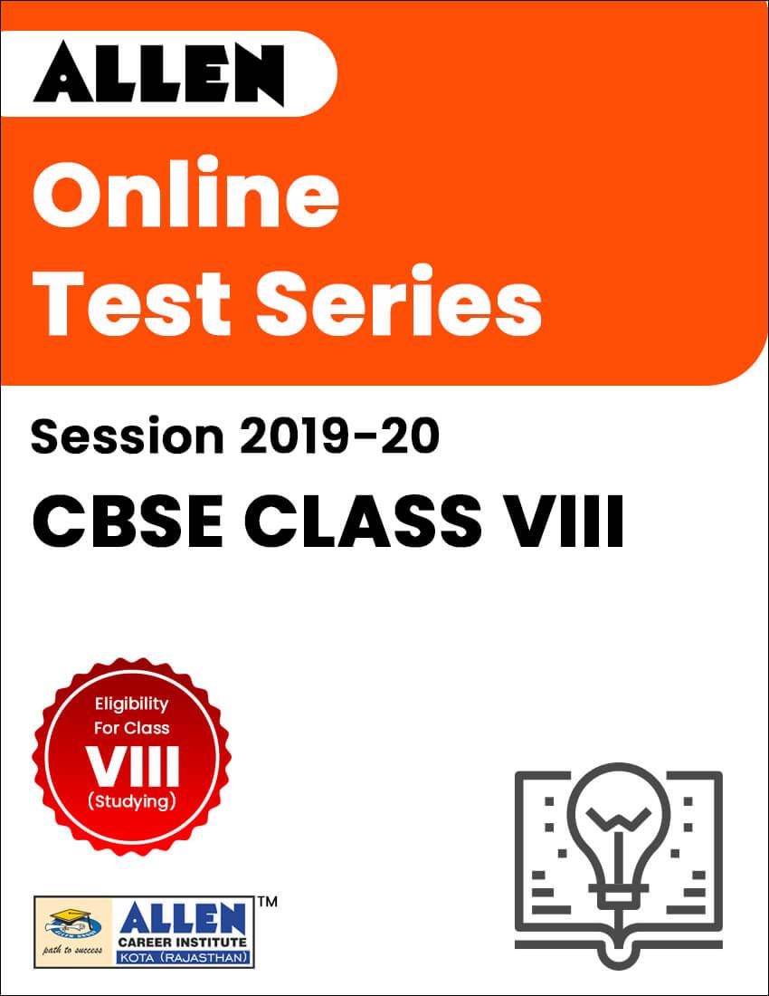 CBSE Class VIII Online Test Series, Free Model Test Paper