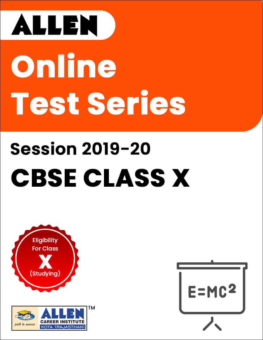 CBSE Class X Online Test Series, Free Model Test Paper
